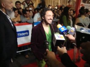 Rubén en la alfombra roja. Foto: Saúl Mendoza