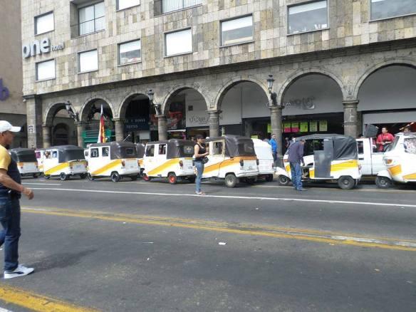 Un grupo de mototaxistas participó de las protestas el 1 de mayo. Foto: C. Espinoza